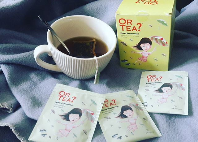 🌧☕💻Rainy day 💻☕🌧 Lets work and warm up with a cup of 🍃☕ OR TEA_ 🍃☕#ortea #orteamerrypeppermint