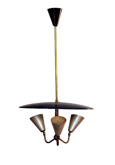 1950 3 ARTICULATED LIGHTS CHANDELIER