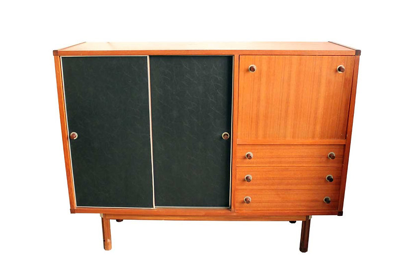STILDOMUS HIGHBOARD IN TEAK AND ROSEWOOD