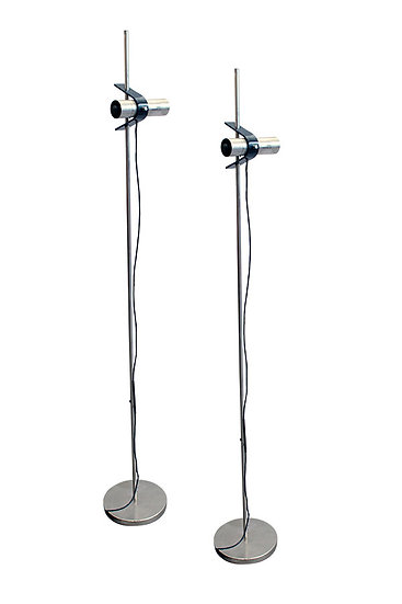 O-LUCE FORTI/OSTUNI  PAIR OF FLOOR LAMPS