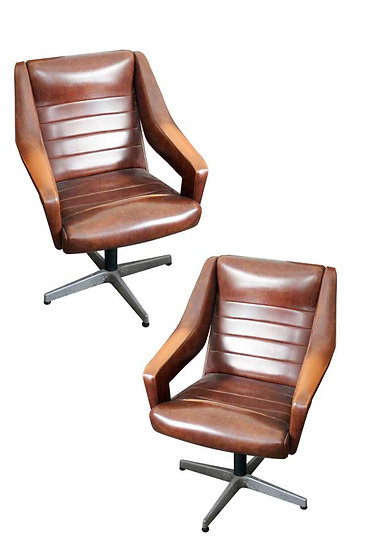 PAIR OF DESK CHAIRS