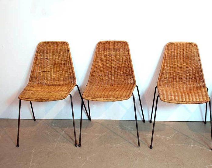 SET OF 3 BASKET CHAIRS FOR HOME (TO)