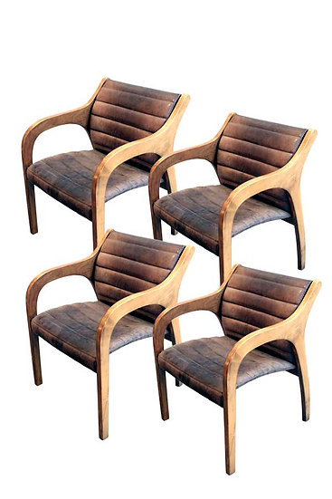 SET OF 4 CLAUDIO SALOCCHI VIVALDINA CHAIRS
