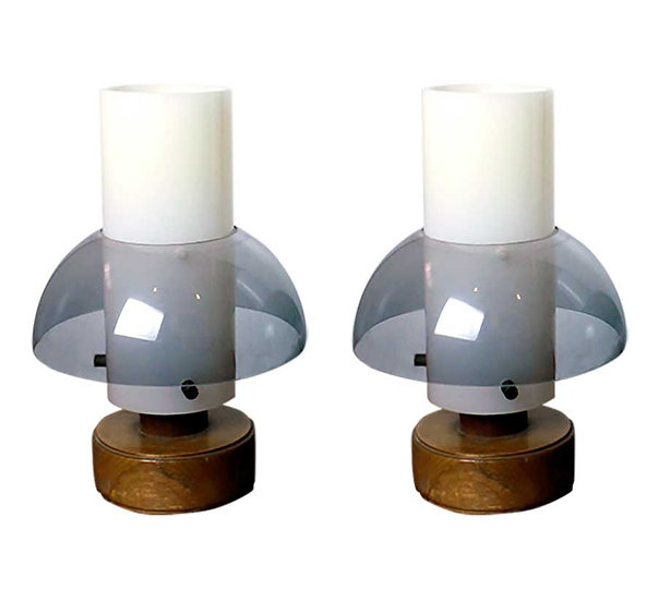 O-LUCE PAIR OF TABLE LAMPS