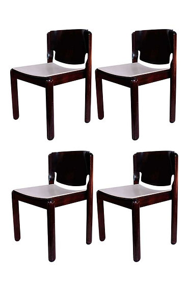 VICO MAGISTRETTI SET OF 4 122 CHAIRS FOR CASSINA
