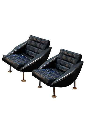 PAIR OF 1950 ARMCHAIRS AT THE MANNER OF STUDIO BBPR