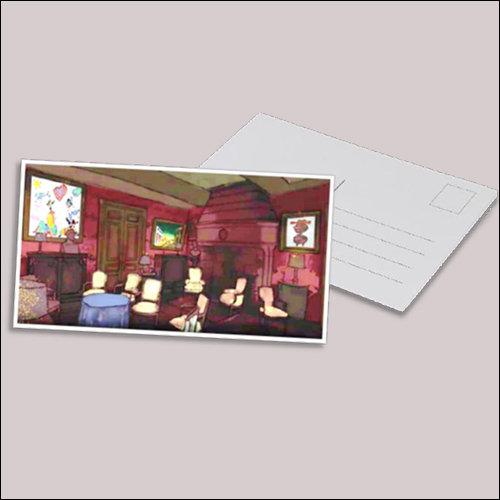 Postkarte Salon