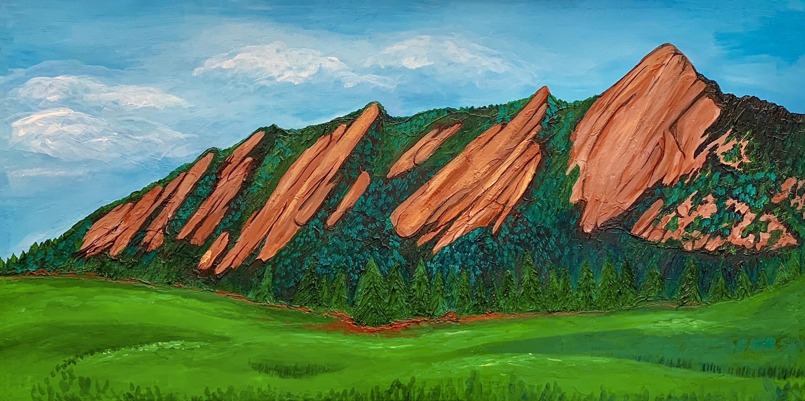 Flat Irons painting