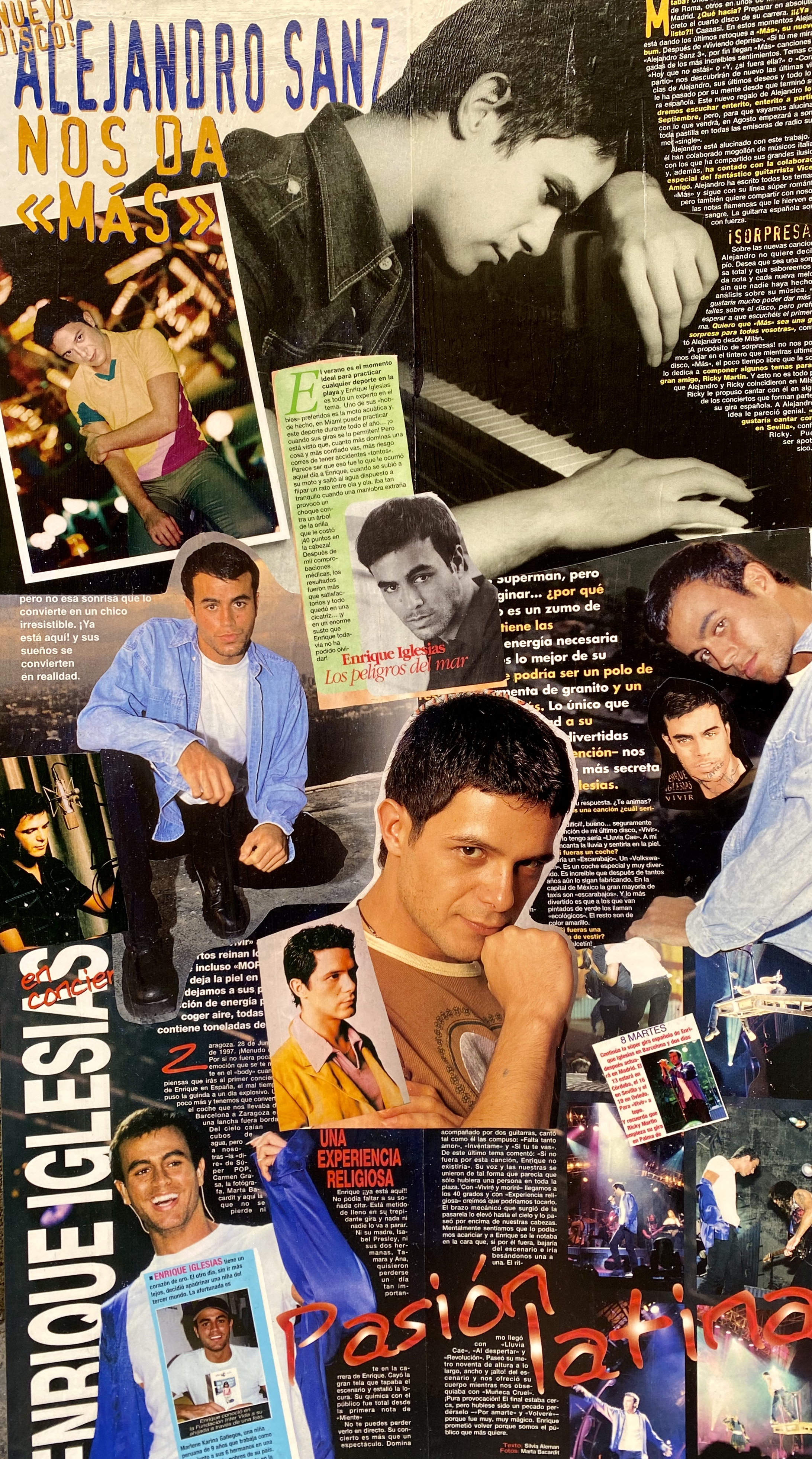 Collage Alejandro Sanz