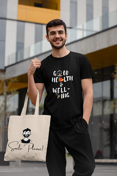 Good-Health-and-well-being-men-black-t-s