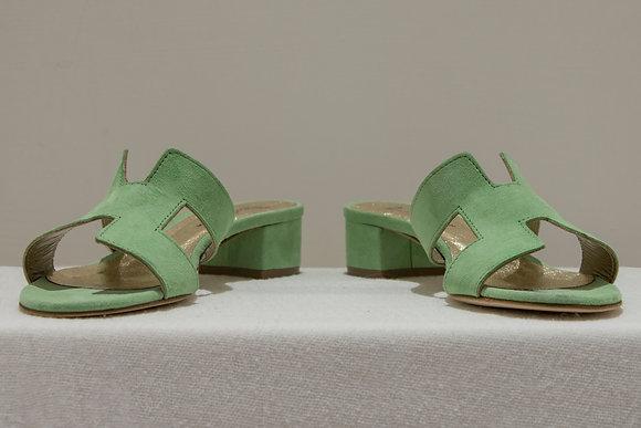 Sandali modello Hermes verde Tiffany