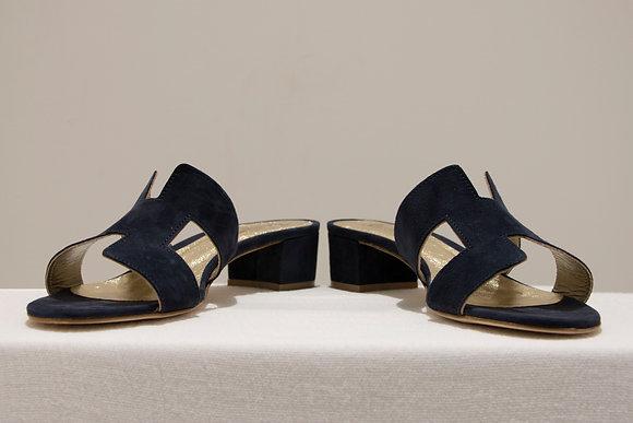 Sandali modello Hermes blu notte
