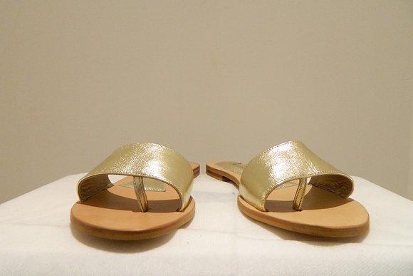 Sandali a fascia dorate