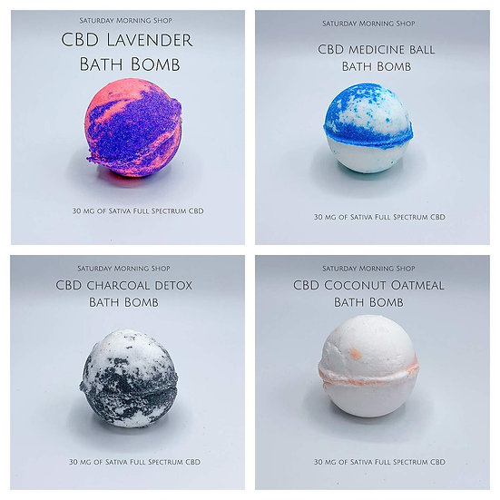 Set of Four CBD Bath Bombs
