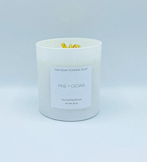 Pine + Cedar Soy Candle