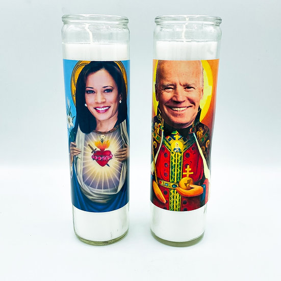 Saint Joe Biden and Saint Kamala Harris Prayer Candle Set