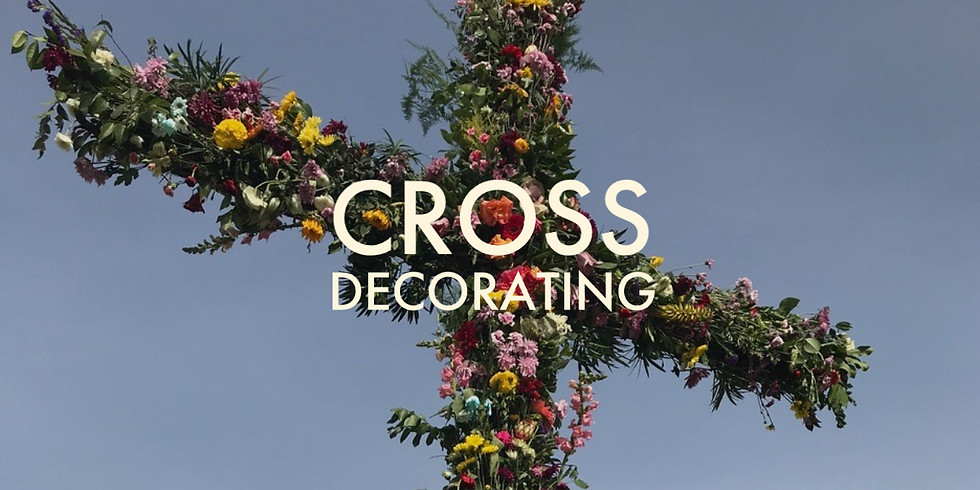 Cross Decorating and Flower Donation