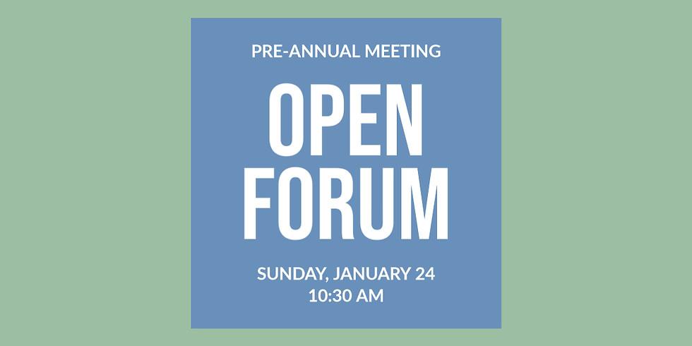 Pre-Annual Meeting Open Forum With SOV Church Council