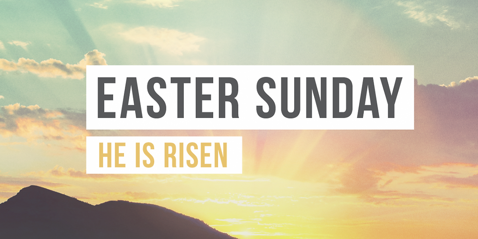 Easter Sunday Service at 11:00 a.m.
