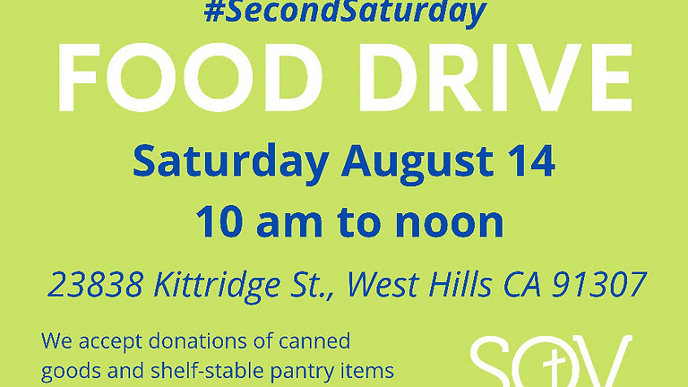August Food Drive