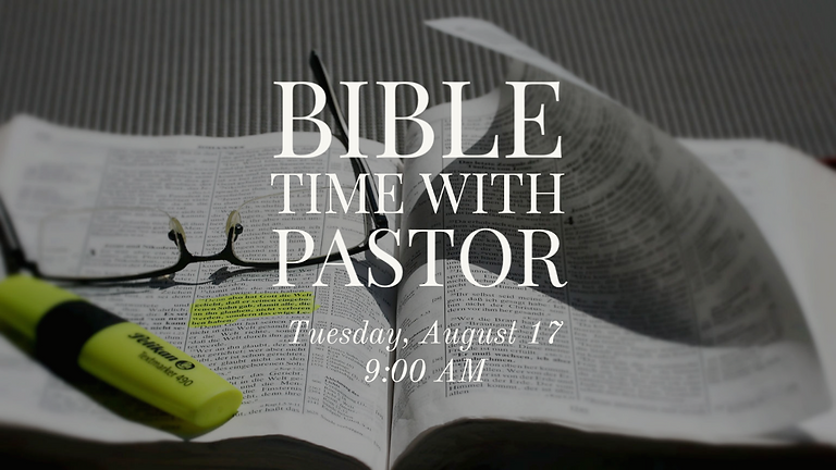 Bible Time with Pastor (Zoom Meeting)