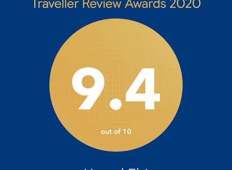 Booking.com トラベラーレビューアワード2020 受賞
