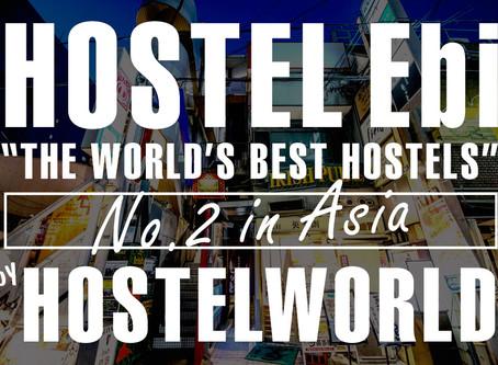 Hostel World ベストホステルアジア部門第2位を受賞しました。