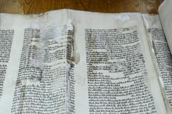 Photo 171 - Lenin Scientific Library - Water Damaged Torah (upside down numberin