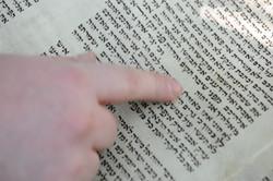 Photo 198 - Lenin Scientific Library - R. Koves Examining Torah and Noticing Dif