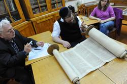 Photo 107 - R. Koves Inspects Another Torah - YLK_6554.JPG
