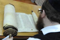 Photo 81 - Lenin Scientific Library - R. Koves Examining Stolen Torah - YLK_6421
