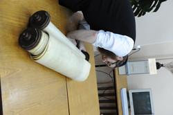 Photo 102 - Lenin Scientific Library - R. Koves Examining Another Torah - YLK_65