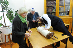 Photo 61 - Lenin Scientific Library - Guardian Brings Next Torah (This One is Al