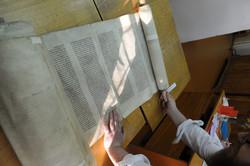 Photo 195 - Lenin Scientific Library - R. Koves Examines Torah Library Catalogue