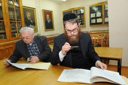Photo 15 - Lenin Scientific Library - R. Koves and Sessler Inspect Catalogues of