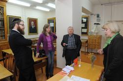 Photo 3 - Lenin Scientific Library - Rabbi Koves, Gyorgy Sessler, Librarian and