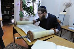Photo 22 - Lenin Scientific Library - R. Koves Inspecting Torah - YLK_6100.JPG