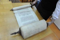 Photo 174 - Lenin Scientific Library - R. Koves Examining Torah Library Catalogu