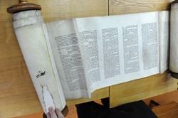 Photo 134 - Lenin Scientific Library - R. Koves Inspecting Damaged Torah Library