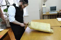 Photo 103 - Lenin Scientific Library - R. Koves Examining Another Torah - YLK_65