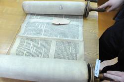 Photo 176 - Lenin Scientific Library - R. Koves Examining Torah Library Catalogu