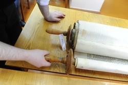 Photo 116 - Lenin Scientific Library - R. Koves Examining Torah Library Catalogu