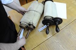 Photo 178 - Lenin Scientific Library - R. Koves Examining Torahs Library Catalog
