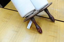 Photo 124 - Lenin Scientific Library - R. Koves Examining Torah - Library Catalo