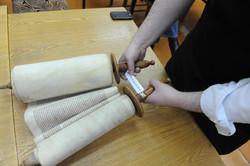 Photo 172 - Lenin Scientific Library - R. Koves Examining Torah Library Catalogu