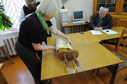 Photo 209 - Lenin Scientific Library - Guardian Brings Another Torah for Inspect
