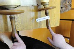 Photo 129 - Lenin Scientific Library - R. Koves Examining Torah - Library Catalo
