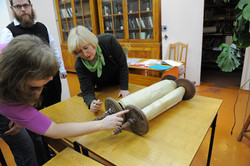 Photo 45 - Lenin Scientific Library - Translator Showing Guardian Proof of Owner