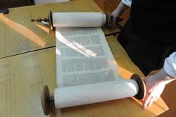 Photo 190 - Lenin Scientific Library - R. Koves Examines Torah Library Catalogue