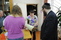 Photo 30 - Lenin Scientific Library - Another Torah Brought for Inspection (This